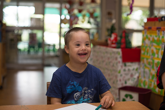 Young Boy smiling The Benevolent Society Early Years Centre