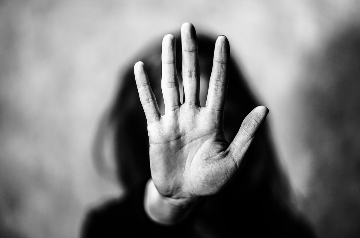 An image of hand (saying stop)